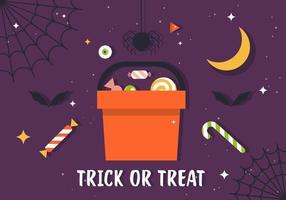 Ilustração gratuita de doces com doçura ou travessura
