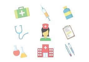 Vectores de hospital gratuitos vetor
