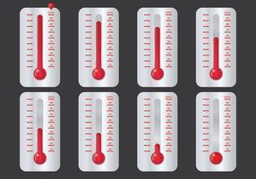 Vetor de ícones de termômetro de objetivo grátis