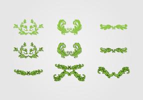 Arte vetorial decorativa acanthus vetor