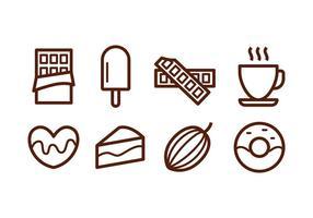 Ícones gratuitos de chocolate vetor