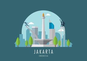 Vetor Monas Jakarta