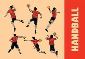 Vector de handball