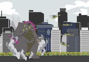 Ilustração gratuita de Godzilla vetor