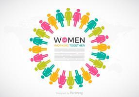 Mulheres trabalhando em conjunto, conceito vetorial