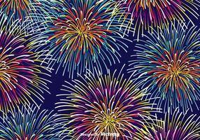Fundo colorido do vetor de fogos de artifício