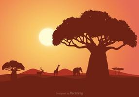 Paisagem do vetor sul-africano