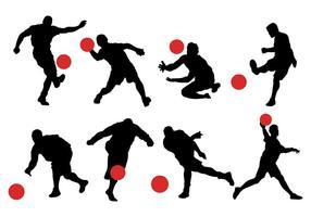 Vetor de ícones kickball grátis