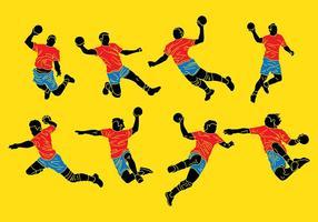 Vetor de ícones de handball grátis