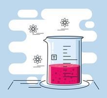 tubo de ensaio de laboratório químico vetor