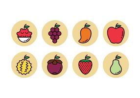 Ícones gratuitos de frutas vetor