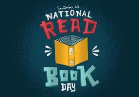 Nacional lê um dia de livro vetor