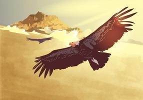 Vôo Condor Flying vetor
