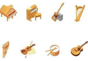Pacote de vetores de instrumentos de madeira