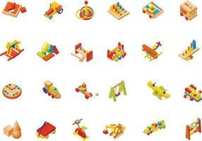 Pacote de vetores de brinquedos de madeira