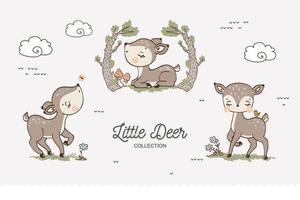 coleção bebê cervo vetor