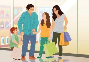 Tempo de compras em família vetor