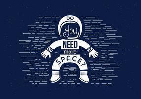 Astronauta de vetores grátis