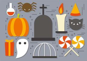 Ícones divertidos do Dia das Bruxas do vetor