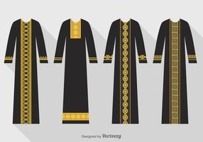 Conjunto de Black Abaya Free Vector