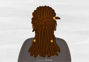 Vetor livre dreads ilustração do penteado
