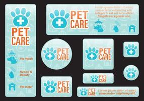Banners de cuidados com animais de estimação vetor