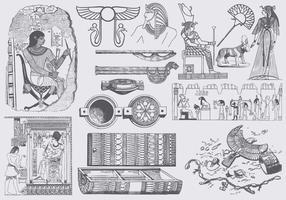 Arte cinza egípcia vetor