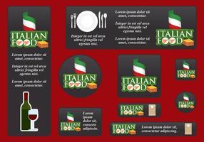 Banners de comida italiana vetor