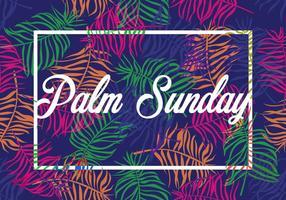 Ramo brilhante Ramo de domingo de palmeiras vetor