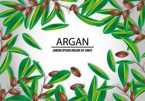 Argan sem costura e conceito de fundo vetor