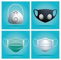 máscaras médicas para proteger contra vírus