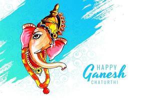 Perfil do Senhor Ganesha para o fundo do festival Ganesh Chaturthi vetor