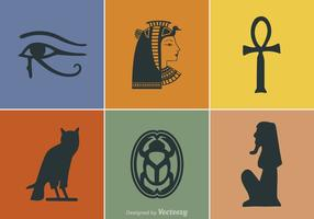 Símbolos livres do vetor do Egito
