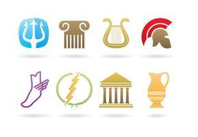 Logos gregos vetor