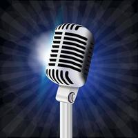 grande microfone vintage vetor
