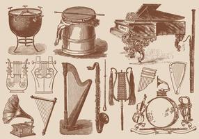 Instrumentos de música clássicos vetor