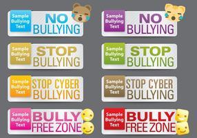 Banners de bullying vetor