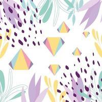 desenho geométrico e colorido abstrato de memphis vetor