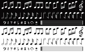 coleção de notas musicais vetor