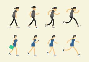 Ícone do ciclo de caminhada vetor