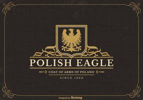 Logotipo polaco do vetor Eagle Eagle