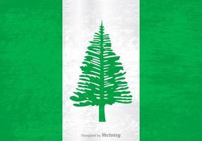 Bandeira livre do grunge do vetor da ilha de Norfolk