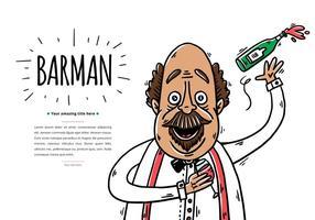 Fundo Barman gratuito vetor