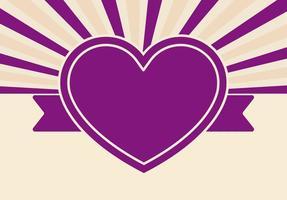 Fundo retro bonito do coração vetor