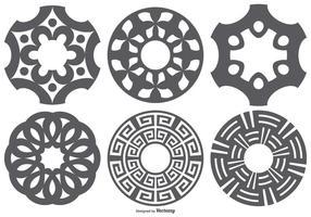 Conjunto de formas vetoriais de corte a laser vetor