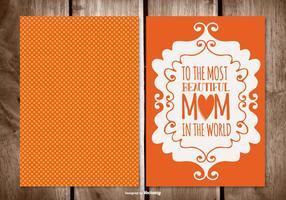 Cartão bonito do dia de mãe do às bolinhas vetor