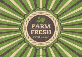 Grunge farm fresh vector illustration