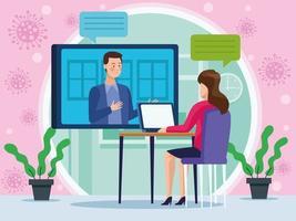 empresários em reunião de reunião vetor