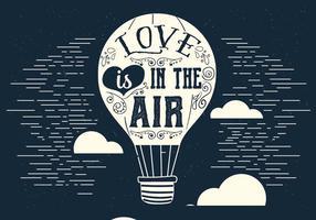 O amor está no balão de ar do vetor do ar