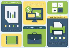 Brilhante digital marketing negócio ilustração vetorial